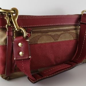 Coach Signature Stripe Demi Shoulder Bag